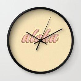 Aloha typography Wall Clock