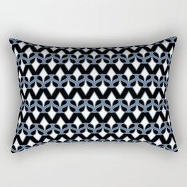 MASQUE - black & blue Rectangular Pillow