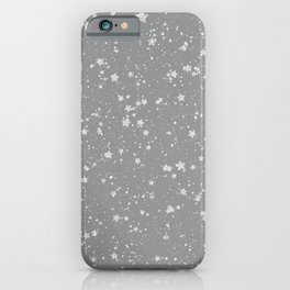 Glitter Stars4 - Silver iPhone Case