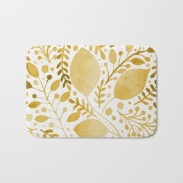 Branches and leaves - yellow Bath Mat