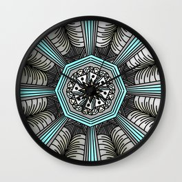 Abstract Artwork 9 - doodling style Wall Clock