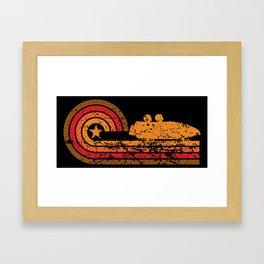 Retro Style Bobsled Vintage Bobsledding Framed Art Print