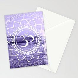 Water Om Mandala Lavender Stationery Cards