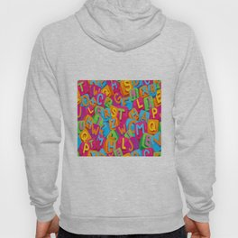 Seamless pattern kids alphabet t-shirt Hoody