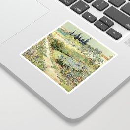 Vincent Van Gogh : Garden at Arles Sticker