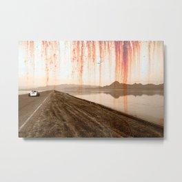 Rusted Salt Flats Roadster Metal Print