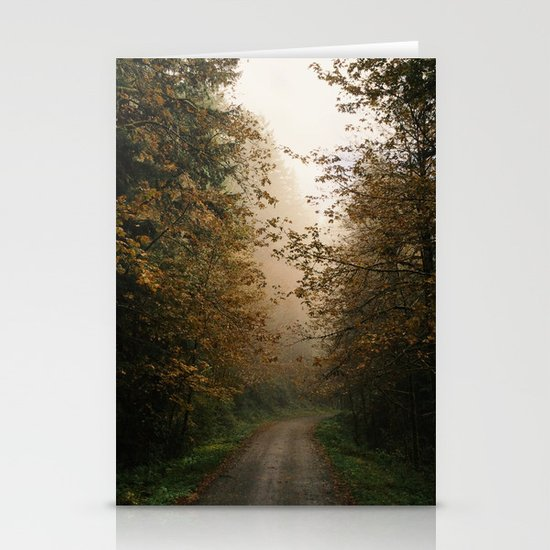 Oregon Fall Road Stationery Cards