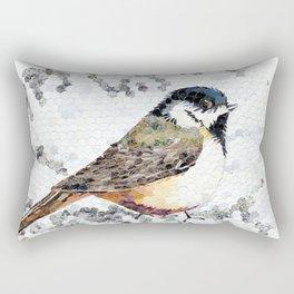 """""""Blackap Chickadee Oval"""" Rectangular Pillow"""