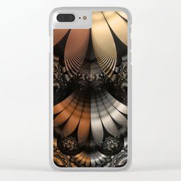 Autumn Fractal Pheasant Feathers in DaVinci Style Clear iPhone Case