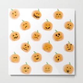 Pumpkin Patch Family Metal Print