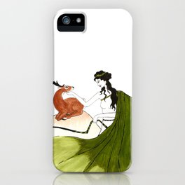 The Lady Artemis, The Goddess of the Hunt iPhone Case