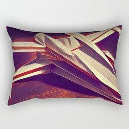 Space Fold - Warm Tones Rectangular Pillow