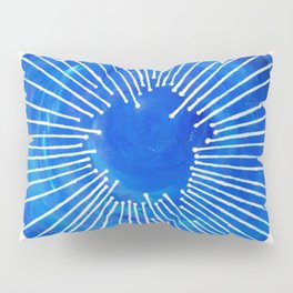 Blue Circle Pillow Sham