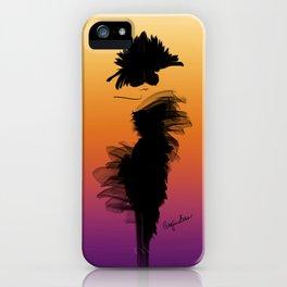 Fashion model illustration of little black dress, sunset colors ba iPhone Case