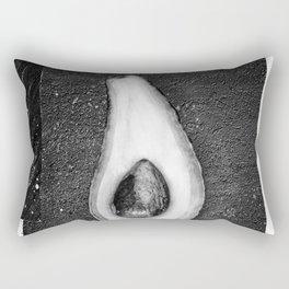Black and White Avocado Rectangular Pillow