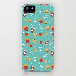 Burgers pattern iPhone Case