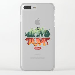 Stranger Thing The Upside Down Clear iPhone Case
