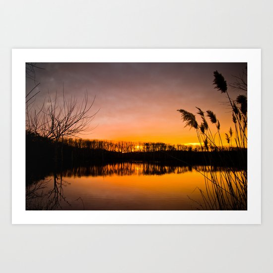 Manasquan Sunset Art Print