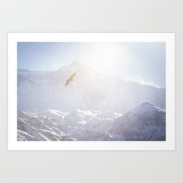 Flying through the Himalayas. Nepal. Art Print