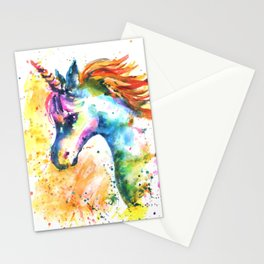 Unicorn Splash Stationery Cards