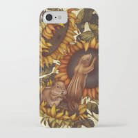 autumn iPhone & iPod Cases featuring Autumn by Kate O'Hara Illustration