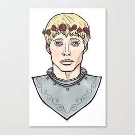 Arthur Flowercrown Canvas Print