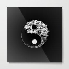 Yin Yang Tree Metal Print