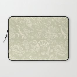 Ocean Critters with Grey Background Laptop Sleeve