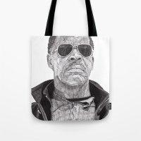 danny haas Tote Bags featuring Danny by Rik Reimert