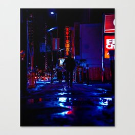 out for the night Canvas Print