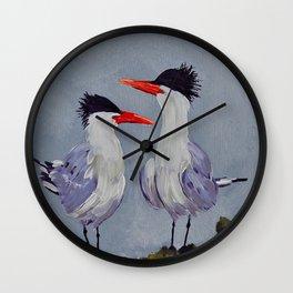 Two Royal Terns Wall Clock