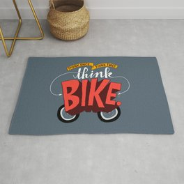 Think Once. Think Twice. Think Bike. Rug