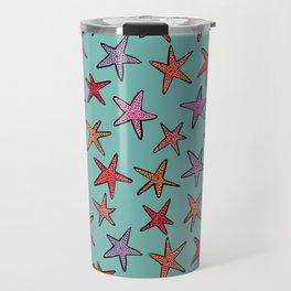 Starfishes in tropical sea Travel Mug