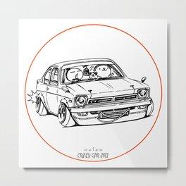 Crazy Car Art 0189 Metal Print