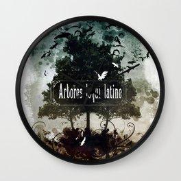 arbores loqui latine Wall Clock