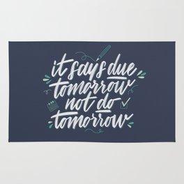 Due Tomorrow Rug