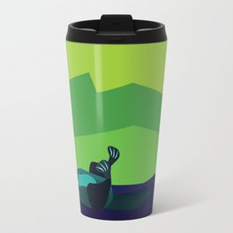 River Otter Illustration Travel Mug