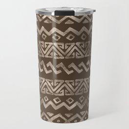 Bold Folk pattern pastel gold n.4 Travel Mug