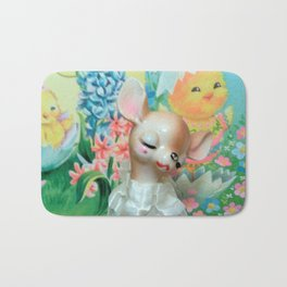 easter fawn and chicks Bath Mat