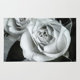 Textured Rose in B&W Rug