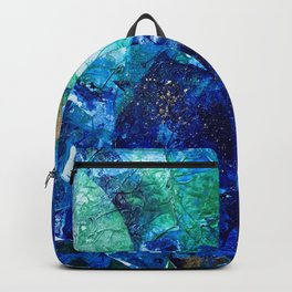 Look Down As The Rain Falls Into The Sea Backpack