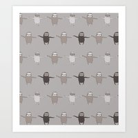 Wiggly Sloths Art Print