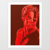 dexter Art Prints featuring Dexter by Giuseppe Cristiano