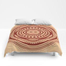 Maroon Pattern Comforters