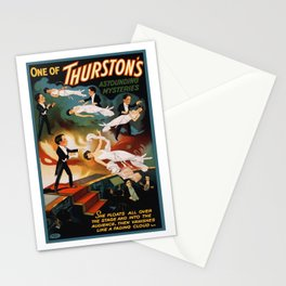 Vintage Magician Thurston Levitation Stationery Cards