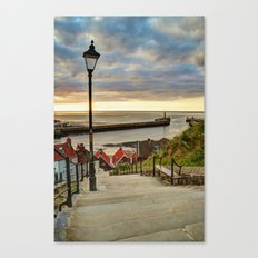 Whitby Sun Set Canvas Print