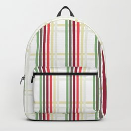 Trendy vertical striped pattern in pink, green and yellow Backpack