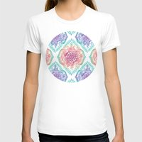 indian T-shirts featuring Indian Ink - Rainbow version by micklyn