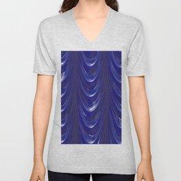 Decadent drapery, inky blue Unisex V-Neck