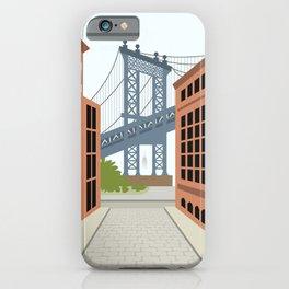 Manhattan Bridge, DUMBO, Downtown Brooklyn, NYC iPhone Case